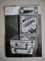 Foto Formato Cartolina Gioco Elettrico Da Bar Anni´60. Bigliardino Fotografico/flipper Rose Bowl - Oggetti