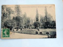 Carte Postale Ancienne : ENGHIEN LES BAINS : Orphelinat De La Ville De Paris , Vue Du Parc , Animé - Enghien Les Bains