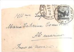 78829)BUSTA CON 10 LIRE DI AFFRNC. DA MESSINA AD ALI MARINE17-09-47 - 6. 1946-.. Republic