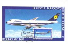 Deutsche Bundespost Maximum Card  -  Boeing 747  -  1969  -  Premier Jour - Aerei