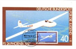 Deutsche Bundespost Maximum Card  -  FS24 Phoenix  -  1957  -  Premier Jour - Aerei
