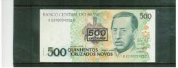 BRASILIEN  ,  BRAZIL  ,  500 Cruzeiros On 500 Cruzados Novos ,     Pick #226 - Brasilien