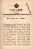 Original Patentschrift -M. Van Den Heuvel In Gangelt B. Geilenkirchen ,1900, Maschine Für Stroh , Landwirtschaft , Agrar - Maschinen
