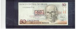 BRASILIEN  ,  BRAZIL  ,  50 Cruzeiros On 50 Cruzados Novos ,     Pick #223 - Brasilien