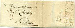 """Belgique - Précurseur De Verviers Vers Colmar Du 16/11/1807, Cachet """"VERVIERS 96"""", Très Belle, See Scan - 1794-1814 (Französische Besatzung)"""
