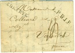 """Belgique - Précurseur De Courtray Vers Valence Du 17/02/1819, Cachet """"KORTRYK"""" """"L.P.B.1.R."""", Décimes, See Scan - 1815-1830 (Période Hollandaise)"""