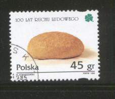 POLAND 1995 100TH ANNIV PSL POLITICAL PARTY USED LOAF OF BREAD CLOVER - 1944-.... Republic