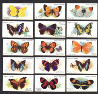CIGARETTE/TRADE/CARDS. John Player Tobacco. BUTTERFLIES (1932). (Complete Set Of 50) - Player's