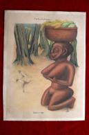"Belle Gravure Illustration Art Africain : Contes Exotiques "" Seduction ""  Satyres Statue érotique Curiosa Erotica Satyr - Art Africain"