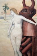 """Belle Gravure Illustration Art Africain : Contes Exotiques """" Seduction """" Statue érotique Curiosa Erotica Nue Nude érotic - Afrikanische Kunst"""