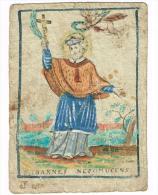 """IMAGE RELIGIEUSE Colorisée, 12,9 X 9,3 Cm, """"S. Ioannes Nepomucens"""" - Images Religieuses"""