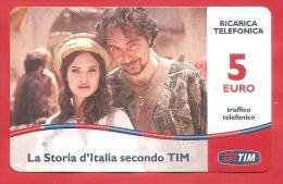 ITALIA - TIM - RICARICARD - RICARICA - STORIA D´ITALIA - SCAD. SETT. 2014 - 5 EURO - Italia