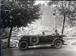 Altes Foto Mit Auto, 8 X 11 Cm, Um 1930 ??? - Turismo