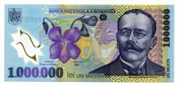 Roumanie Romania Rumänien 1000000 Lei 2003 UNC - Rumänien