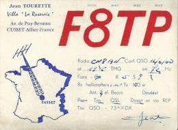 Carte  Radio  Amateur  Qsl : CUSSET , Allier  :  F 8 T P - Radio Amateur