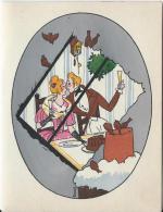 Carte Bristol   à Deux Volets /France/Amoureux  Dinant En Tête à Tête/Jacques TOUCHET/Vers 1930-1940    CVE29 - Saisons & Fêtes
