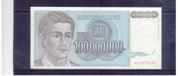JUGOSLAWIEN , YUGOSLAVIA ,     100 Million Dinara    ,  Pick #124      , - Yugoslavia
