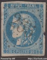 GC 255 (Availles-Limouzine, Vienne (80)), Cote 35€ (+25€ Pour Le Timbre, N° 46B) - 1849-1876: Klassieke Periode
