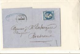 N 22 Bleu De France Losange Gros Chiffres - 1862 Napoléon III