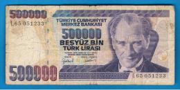 TURQUIA - TURKEY - 500.000 Liras 1970   Circulado  P-212 - Turquia