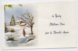 BOULAY--Carte De Voeux  Format  135mm X 85mm--Composition Personnelle Sur Papier De Type Mignonnette--Meilleurs Voeux - Boulay Moselle