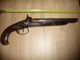 Ancien Pistolet Gros Pistolet à Deux Chiens - Decorative Weapons