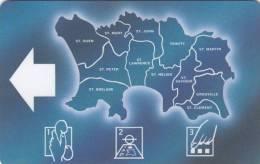 JERSEY ISL. - Map Of Jersey, CN : 12JERA(normal 0), Used - United Kingdom