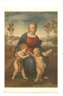 Cp, Peintures Et Tableaux, Raphaello Sanzio - La Madonna Del Cardellino - Pittura & Quadri