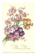 Cp, Fleur, Bonne Année, écrite 1937 - Flowers, Plants & Trees