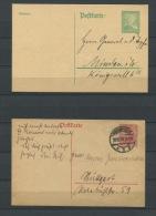 Germany 1918,1925 2 Post Stationary Cards - Germany