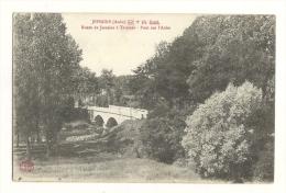 Cp, 10, Jessains, Route De Jessains à Trannes, Pont Sur L'Aube, Voyagée 1917 - Other Municipalities