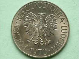 1970 - 10 ZLOTY / Y#50a ( Uncleaned - For Grade, Please See Photo ) ! - Pologne