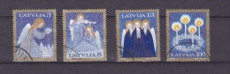 H] Série Oblitérée Cancelled Set Lettonie Lettonia Noël Christmas Christian Religion Chrétienne - Latvia