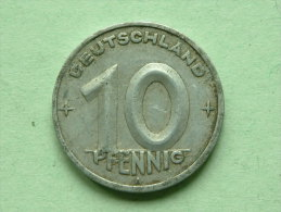 1949 A - 10 PFENNIG / KM 3 ( Uncleaned - For Grade, Please See Photo ) ! - [ 6] 1949-1990 : RDA - Rep. Dem. Alemana