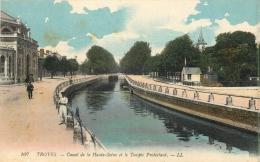10 TROYES  CANAL DE LA HAUTE SEINE ET LE TEMPLE PROTESTANT - Troyes