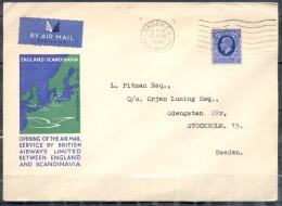 LETTRE  De LONDON  Timbre SEUL Sur LETTRE   Le 17 MCH 1936  Pour STOCKHOLM Suede  PAR AVION - 1902-1951 (Re)