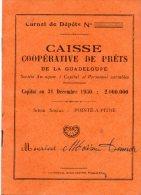 Caisse Coopérative De Prêts De La Guadeloupe -  1952 - Vieux Papiers