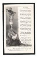 MANCHE  /  CHERBOURG  /  Image  Pieuse,  Commémorant  Le  Décès  De  Hélène-Marguerite  COUSIN , En 1909 - Images Religieuses