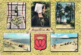 LONGEVILLE-sur-MER (Vendée) - Carte Multi-vues (5) + Blason - Circulée En 1965, 2 Scans - Autres Communes