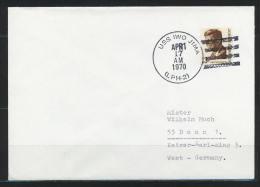 (B-36) USA, Schiffspost, USS Iwo Jima (LPH-2), Gest. 1970 - United States