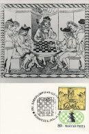 D13873 CARTE MAXIMUM CARD TRIPLE 1974 HUNGARY - CHESS CP ORIGINAL - Chess