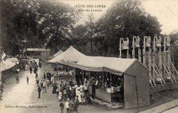 SAINT GERMAIN EN LAYE - Fête Des Loges Allée Des Loteries Banderole Au Poulet De Houdan Manège Chevaux Bois Fête Foraine - St. Germain En Laye