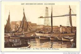 MARSEILLE VIEUX PORT ET FORT ST NICOLAS SON ACTIVITEE REF 13973 - Vieux Port, Saint Victor, Le Panier