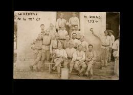 12 - LE LARZAC - La Réserve Au Larzac - CARTE PHOTO De 1934 - 10è Compagnie - Aveyron - Militaria - France