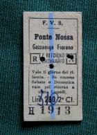 Billet F.V.S PONTE NOSSA-GAZZANIGA-FIORANO 1964Col Schnabel - Bus