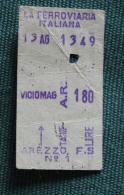 Billet De Train Arezzo-Viciomag1964 Col Schnabel - Bus