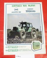 TORPEDO Tractor Rijeka (Croatia) Yugoslavia / POSTER Tracteur Traktor % INA Oil - Traktoren