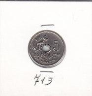 5 CENTIMES Cupro-nickel Albert I 1910 FR - 03. 5 Centesimi