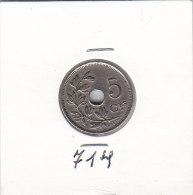 5 CENTIMES Cupro-nickel Albert I 1928 FR - 03. 5 Centesimi
