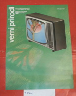 Ei - Electronic Industry Nis (Serbia) TV With Lamps, First Color Tv, Yugoslavia/  Cave Vin - Television